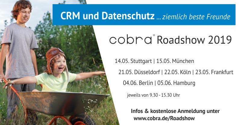 """cobra Roadshow """"CRM und Datenschutz"""""""