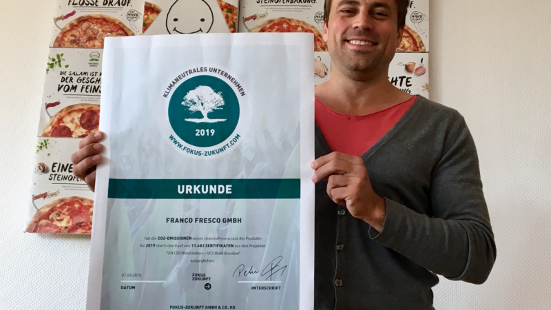 Gustavo Gusto: Deutschlands erste klimaneutrale Tiefkühlpizza