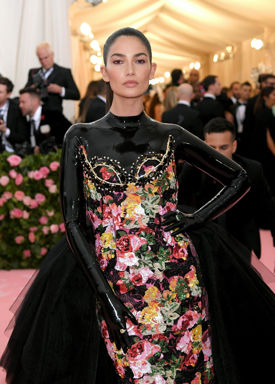 Lily Aldridge at the 2019 Met Gala