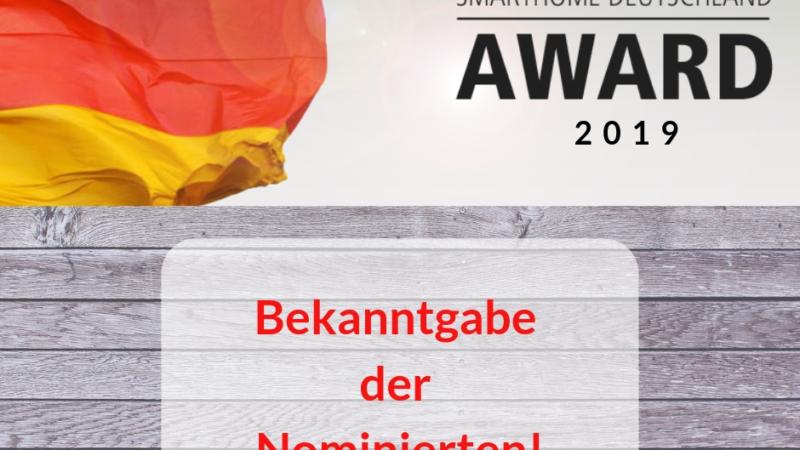 SmartHome Deutschland Award 2019 – Die Nominierten stehen fest!