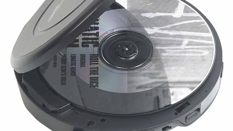 auvisio Tragbarer CD-Player mit Ohrhörern, Bluetooth