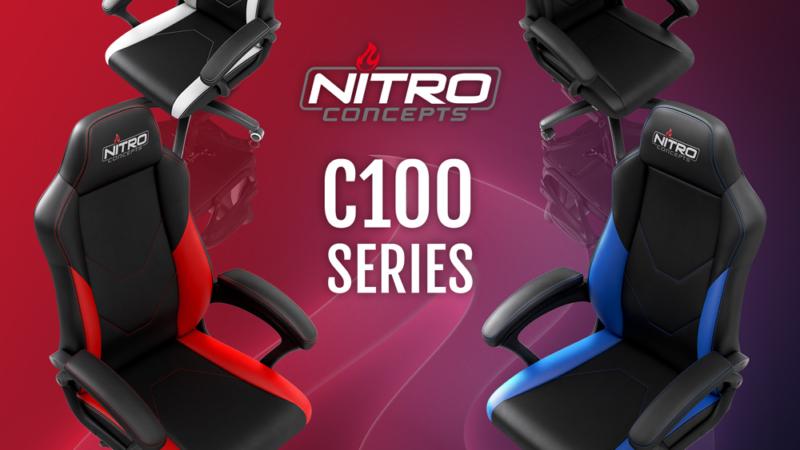 JETZT bei Caseking: Nitro Concepts C100 – Dynamisches Design trifft auf hohen Komfort