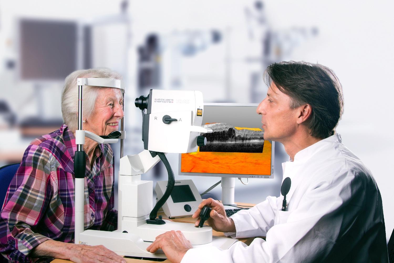 Neues Diagnosegerät beim Augenarzt in Pirmasens