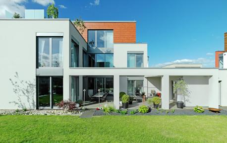 Fassade mit Design-Anspruch