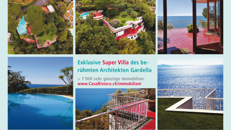 Exklusive Traum-Villa in Arenzano, Ligurien (erbaut 1961 vom berühmten Architekten Ignazio Gardella)