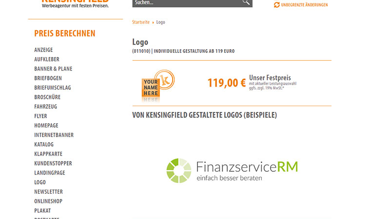 Logo – schon ab 119 Euro