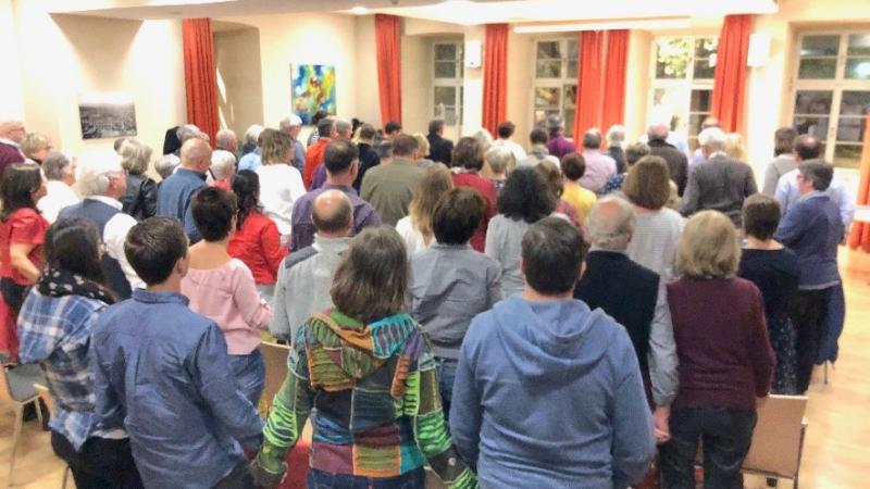 Zeichen für Frieden, Solidarität und Hoffnung in Hofheim