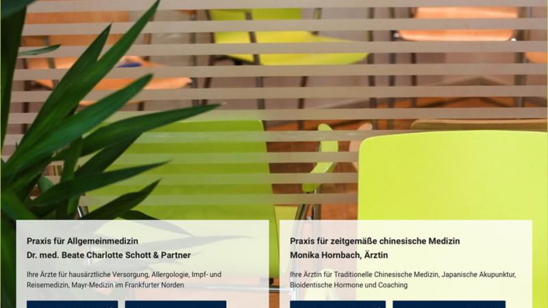 Neue Internetseite für die Praxisgemeinschaft für ganzheitliche Medizin im Frankfurter Norden