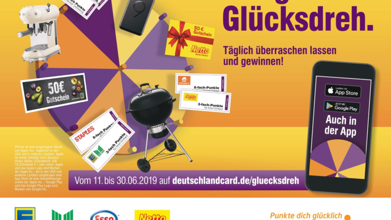 """""""Der große Glücksdreh"""": DeutschlandCard startet neue Gewinnspielkampagne"""