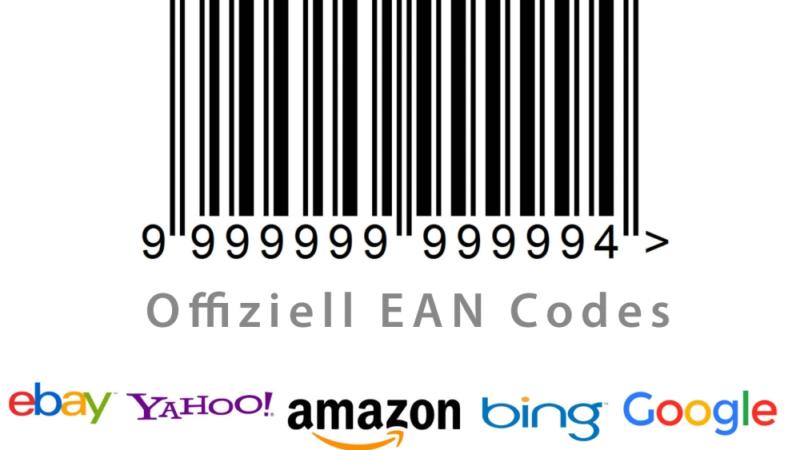 EAN Codes Barcodes Strichcodes – Verkauf ohne Gebühren