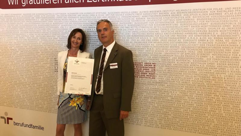 Vielfalt voraus: GISA erhält in Berlin Zertifikat zum audit berufundfamilie