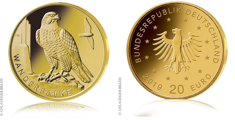 Deutschland hat eine neue Goldmünze: 20 Euro Wanderfalke 2019