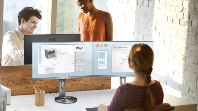 Ergonomisch und elegant: das neue Profi-4K-Display von AOC