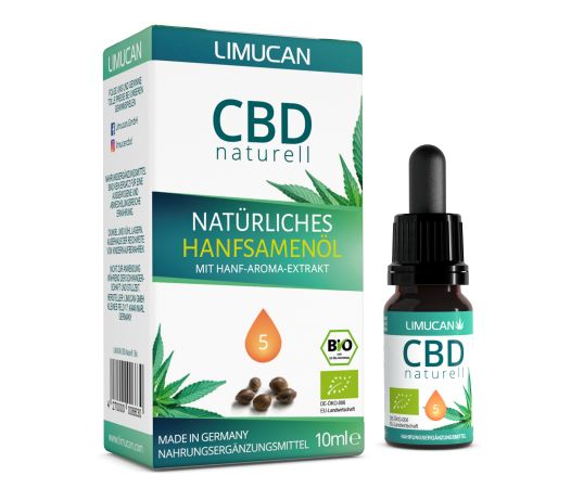 """Limucan bringt mit """"CBD Naturell 5 Bio"""" neues Bio-Produkt auf den Markt"""