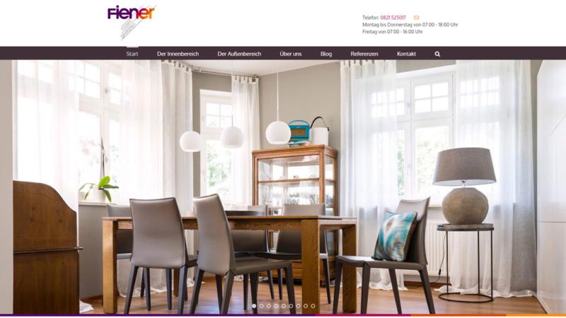 Neue Website von Maler Fiener