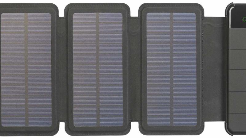 revolt Solar-Powerbank PB-85.s, faltbares Solarpanel