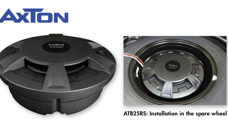 Subwoofer for Spare Wheels: the ATB25RS from AXTON