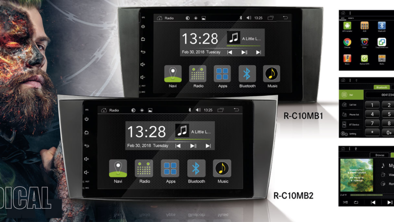 Neue RADICAL Infotainer für die Mercedes C- und E-Klasse
