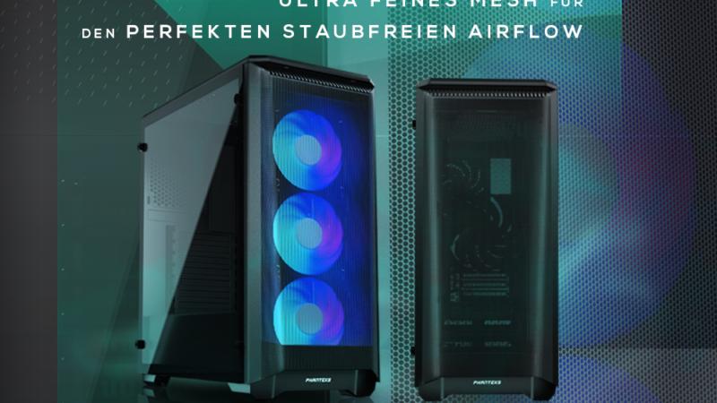 Ab sofort bei Caseking – Der PHANTEKS Eclipse P400 Air Midi-Tower mit optimiertem Airflow