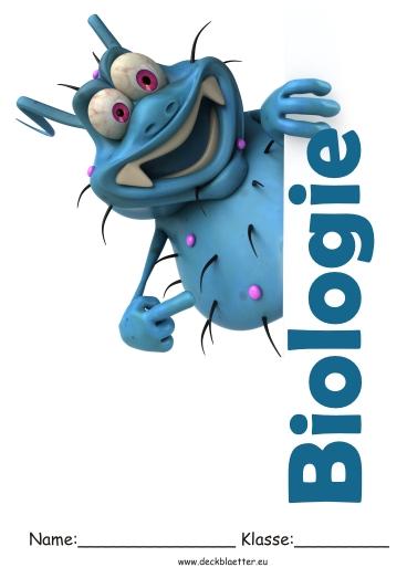 Biologie Deckblatt für die Schule