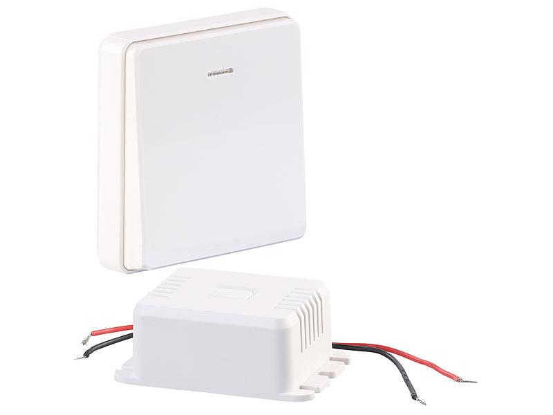 CASAcontrol Einbau-Funk-Schaltmodul-Set mit Funk-Taster