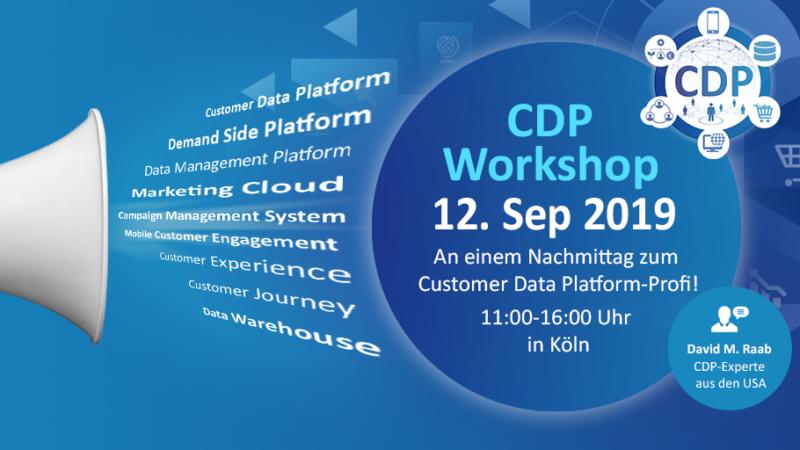 Parallel zur DMEXCO: CDP-Workshop mit Marketing-Ikone David M. Raab