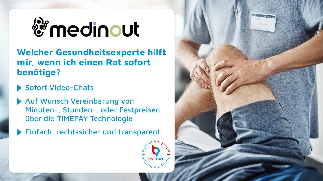 TIMEPAY.de – medinout.com, die Gesundheitsplattform für die ganze Welt, beschließt strategische Kooperation mit TIMEPAY.de