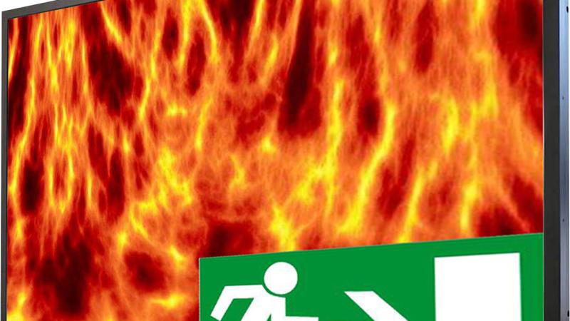 Feuerfeste Monitore für den Brandschutz