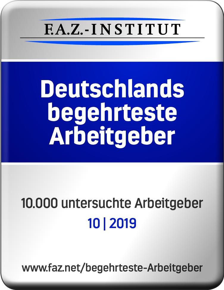 Vetter bei Studie Deutschlands begehrteste Arbeitgeber ausgezeichnet