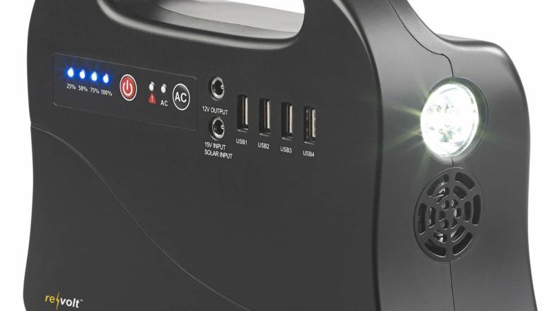 revolt Solar-Konverter & Powerbank HSG-260, 120 Watt