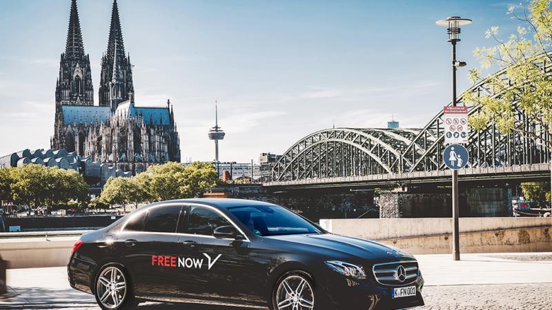 FREE NOW Ride fährt nun auch am Rhein