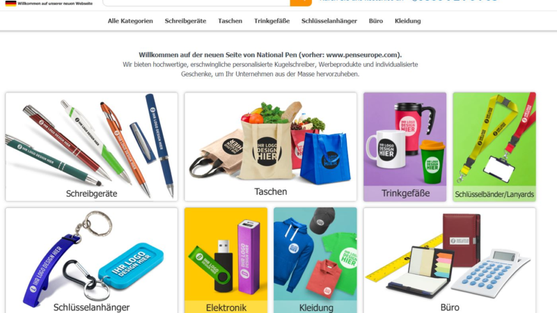 Website-Relaunch beim Werbeartikel-Anbieter National Pen