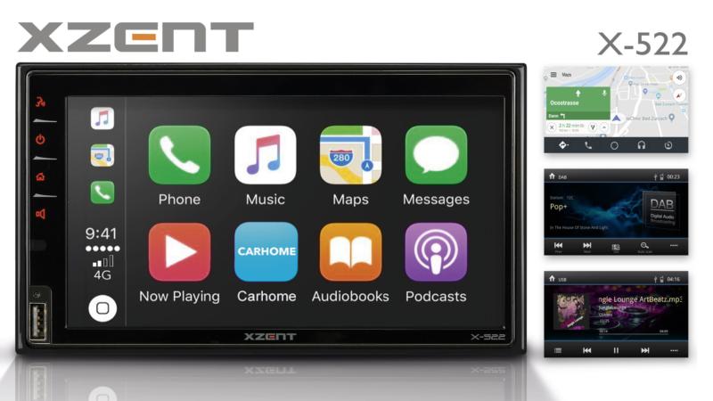 Integrates Mobile Phones: XZENT Infotainer X-522