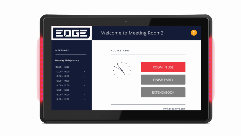 SedaoLive: Moderne Raumbuchungslösung mit Digital-Signage-Anbindung
