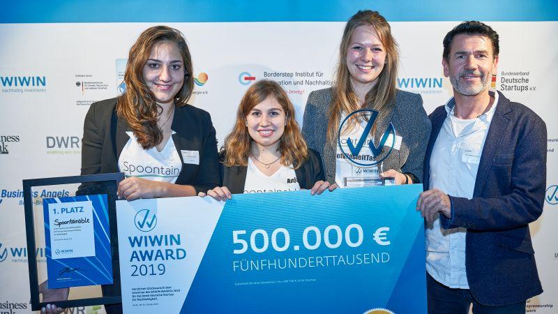WIWIN AWARD: Spoontainable ist das nachhaltigste Startup Deutschlands