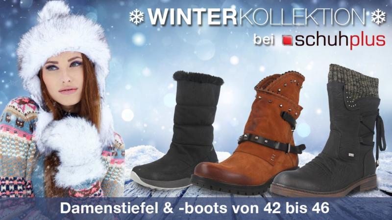 Warme Stiefel für die kalte Jahreszeit bei schuhplus in verschiedenen Designs