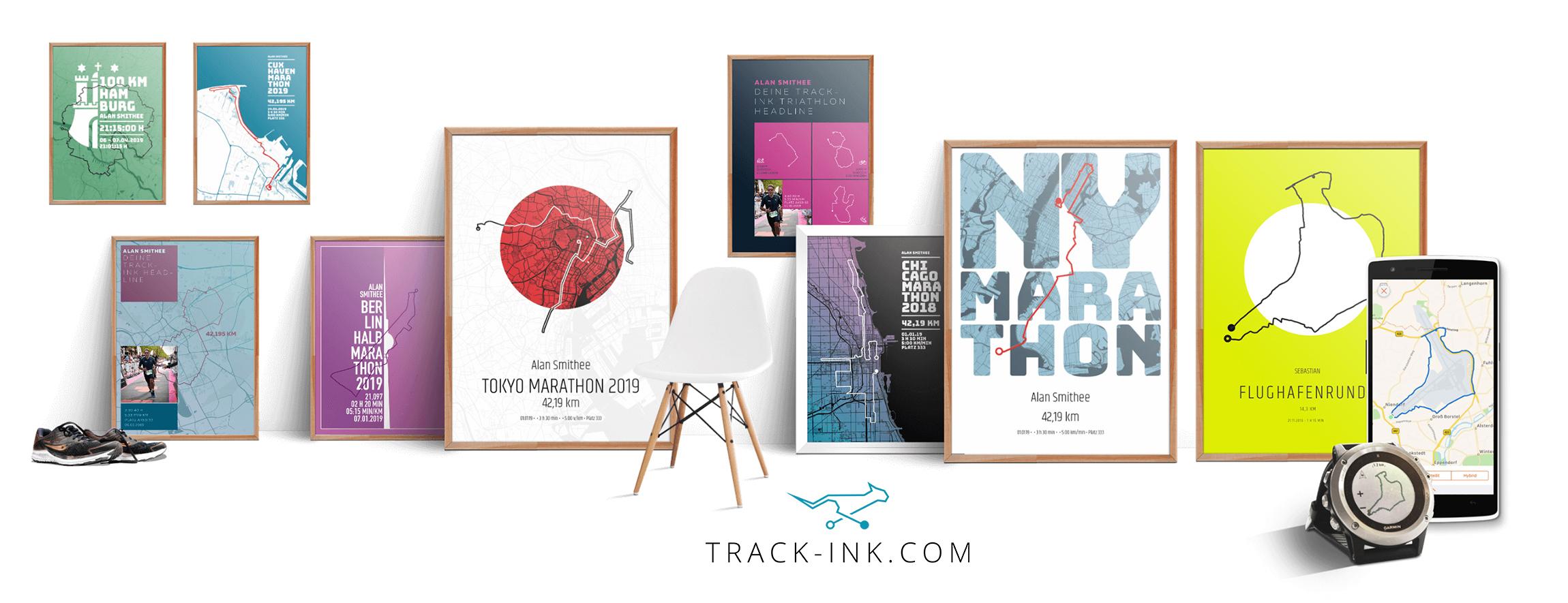 Track-ink verewigt GPX-Tracks als Design-Poster.