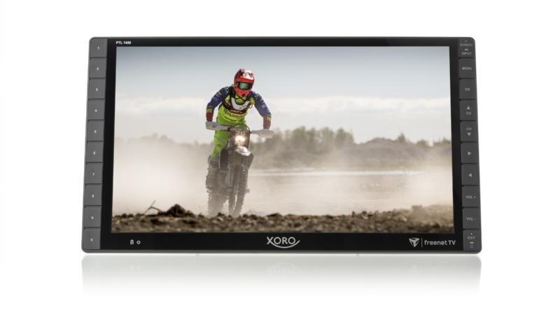 XORO PTL 1450: Tragbarer 14 Zoll Full HD Fernseher mit DVB-T2 HD Tuner für freenet TV