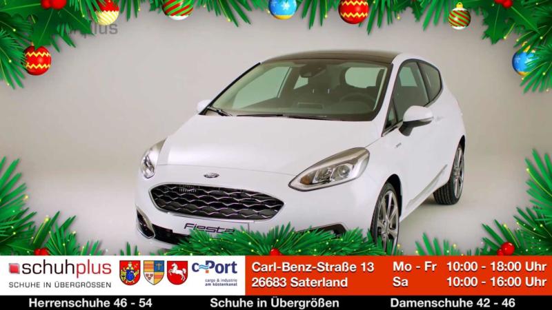 Schuhplus verlost zum Ende des Jahres einen Ford Fiesta am c-Port im Saterland