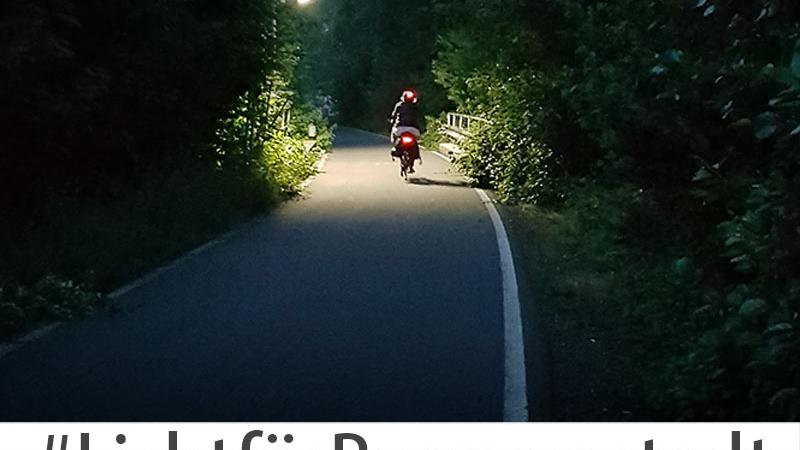 Licht für den Alleenradweg in Bergneustadt
