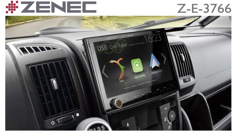 Extra großes Display: Z-E3766 – ZENECs Navi für Fiat Ducato
