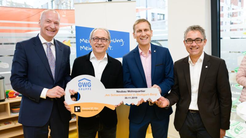 """Stuttgart: GWG-Gruppe weiht Wohnquartier """"Am Schwanenplatz"""" ein"""
