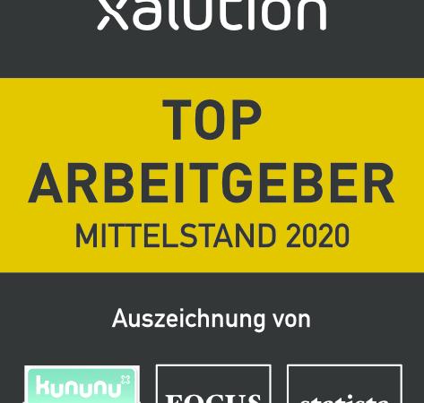 """xalution GmbH ist """"Top Arbeitgeber Mittelstand 2020"""""""