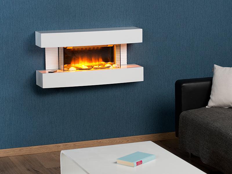 "Carlo Milano Design-Elektrokamin ""Tirari"" zur Wandmontage"