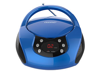 auvisio Tragbarer Stereo-CD-Player mit Radio