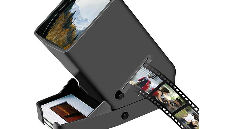 Somikon Mobiler Dia- & Negativ-Betrachter, LED, 3 x