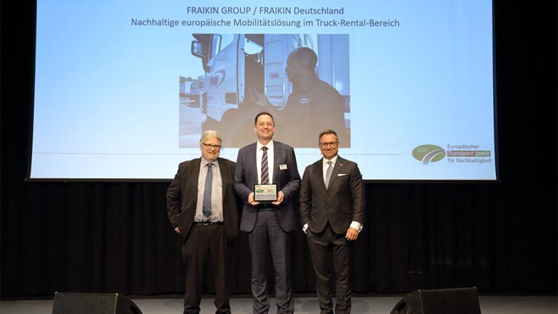 """Nutzfahrzeugvermietung: Fraikin gewinnt """"Europäischen Transportpreis für Nachhaltigkeit 2020"""""""