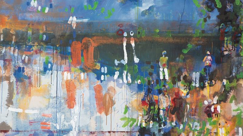 Magdalena Cichon bietet Kunstdrucke ihrer Werke an