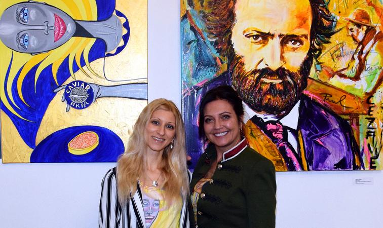 """Prominente Künstler bei der Vernissage der Ausstellung """"Kunstreise von Picasso bis heute"""""""