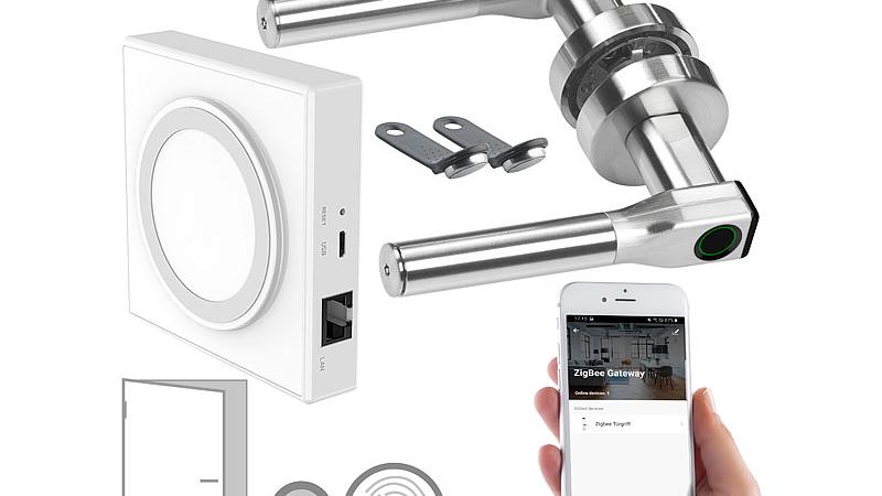 VisorTech Sicherheits-Fingerprint-Türbeschlag li/re